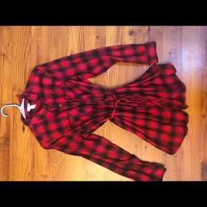 Isabel maternity, plaid shirt-dress